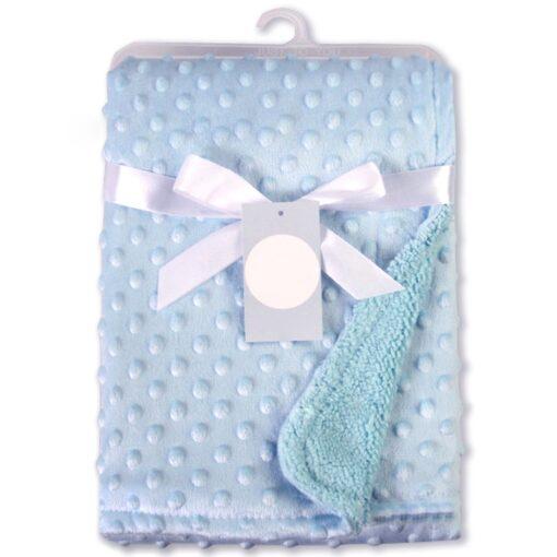 Newborn Baby Blankets Warm Fleece Thermal Soft Stroller Sleep Cover Cartoon Beanie Infant Bedding Swaddle Wrap 8