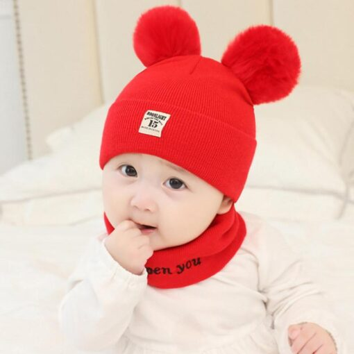 Newborn Baby Boy Girl Knitted Hat Autumn Winter Cap Knitting Toddle Beanies Cute Daily Leisure Pompon 4