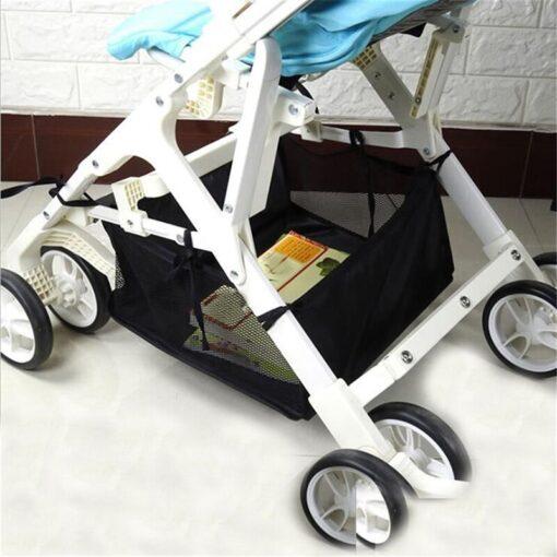 Newborn Baby Care Stroller Basket Baby Stroller Basket Organizer Storage Bag Portable Pram Infant Stroller Accessories