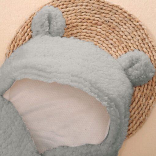 Newborn Baby Cute Cotton Receiving White Sleeping Baby Multi use big diaper Blanket Infant Wrap Boy 3
