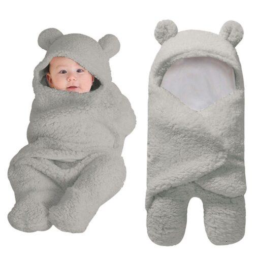 Newborn Baby Cute Cotton Receiving White Sleeping Baby Multi use big diaper Blanket Infant Wrap Boy