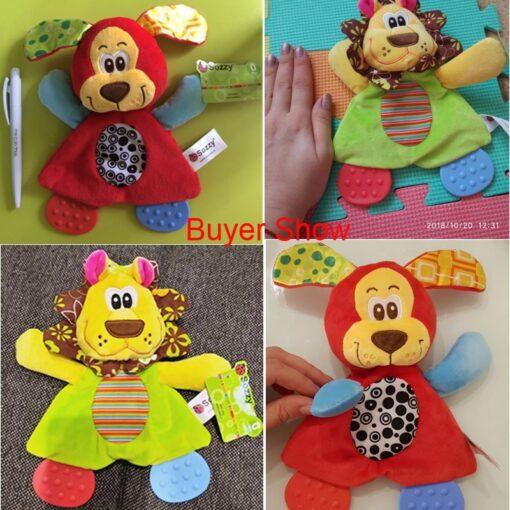 Newborn Baby Cute Playmate Plush Doll Toys Kids Cartoon Animals Hand Bells Rattles Toy Baby Teether 5