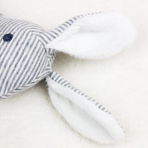 Newborn Baby Cute Plush Long Ear Rabbit Rattle Toys Baby Hand Bells Stick Toys with BB 11