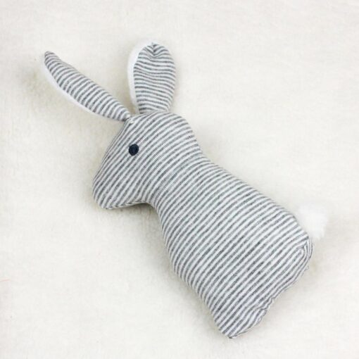 Newborn Baby Cute Plush Long Ear Rabbit Rattle Toys Baby Hand Bells Stick Toys with BB 3