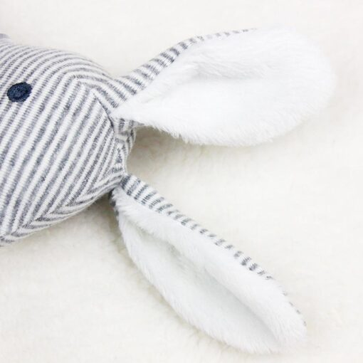 Newborn Baby Cute Plush Long Ear Rabbit Rattle Toys Baby Hand Bells Stick Toys with BB 5