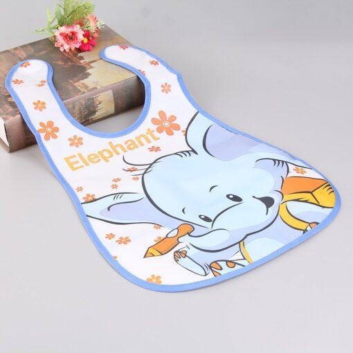 Newborn Baby Feeding Bibs Waterproof Infant Burp Cloths Toddler EVA Cartoon Printed Saliva Towel Kids Soft 3
