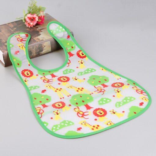 Newborn Baby Feeding Bibs Waterproof Infant Burp Cloths Toddler EVA Cartoon Printed Saliva Towel Kids Soft 4