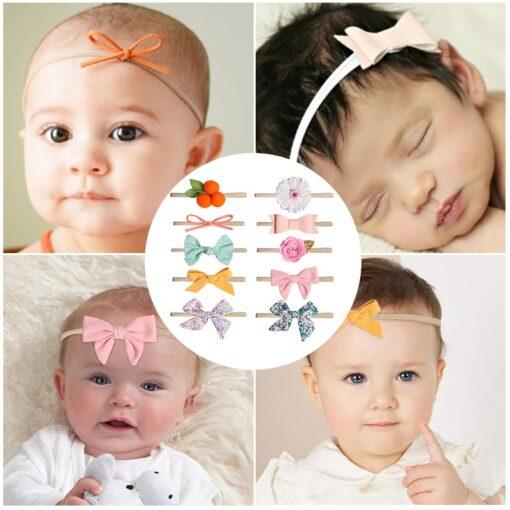 Newborn Baby Girls Headband Boneless elastic Hair band For Kids Princesses Turban Headwear Cute Baby hair 3