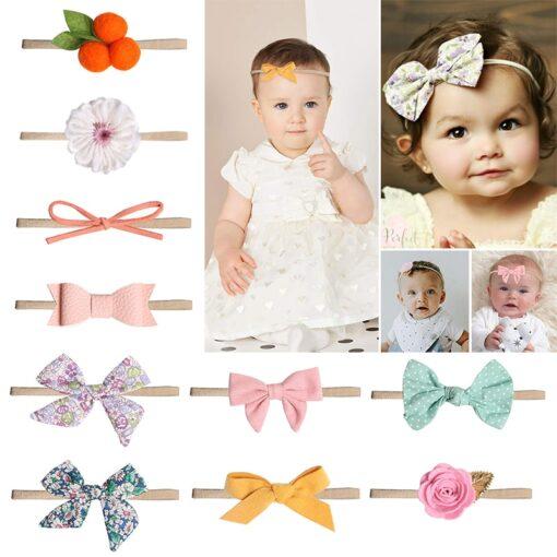 Newborn Baby Girls Headband Boneless elastic Hair band For Kids Princesses Turban Headwear Cute Baby hair