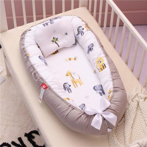 Newborn Baby Nest Bed Portable Crib Travel Bed Babynest Baby Nestje Baby Lounge Bassinet Bumper with