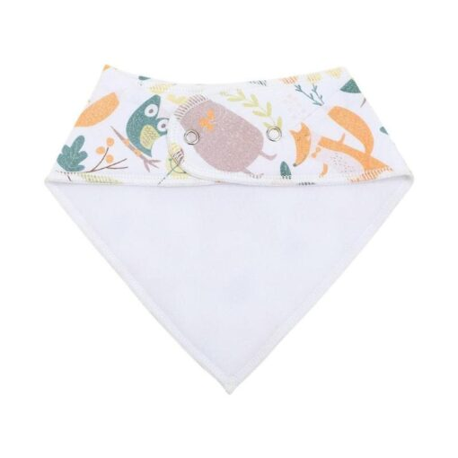 Newborn Baby Saliva Towel Adjustable Infant Bibs Burp Cloth Reusable Washable Baby Triangle Bibs Cartoon Printed 2