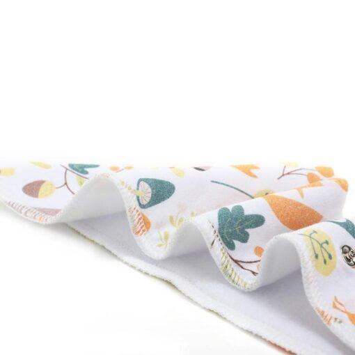 Newborn Baby Saliva Towel Adjustable Infant Bibs Burp Cloth Reusable Washable Baby Triangle Bibs Cartoon Printed 5