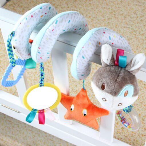 Newborn Baby Toys Stuffed Stroller Toys Animal Baby Crib Pram Bed Hanging Educational Infant Baby Rattle 1