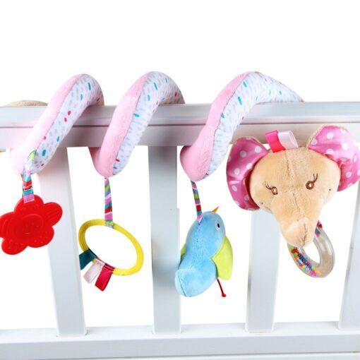 Newborn Baby Toys Stuffed Stroller Toys Animal Baby Crib Pram Bed Hanging Educational Infant Baby Rattle 3