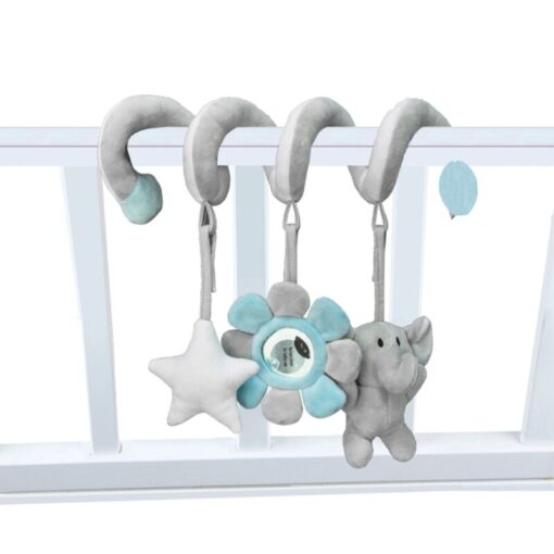 Newborn Baby Toys Stuffed Stroller Toys Animal Baby Crib Pram Bed Hanging Educational Infant Baby Rattle 4