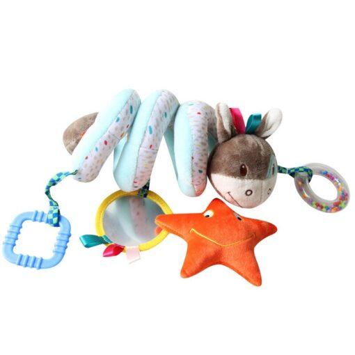 Newborn Baby Toys Stuffed Stroller Toys Animal Baby Crib Pram Bed Hanging Educational Infant Baby Rattle 5