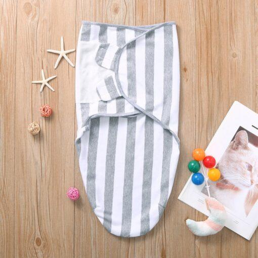 Newborn Baby Wrap Soft Swaddling Diaper Star Striped Toddler Swaddleme Organic Cotton Infant Girl Turban Sleepping 2