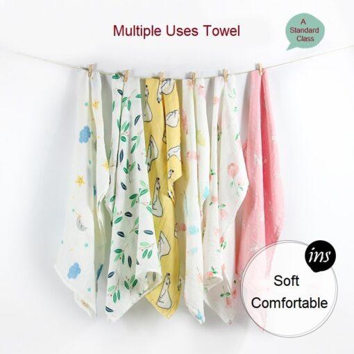 Newborn Blankets Bamboo Bath Baby Swaddle Kids Muslin Organic Cotton Fabric Super Soft Stuff Girls Burp