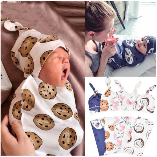 Newborn Blankets Bath Baby Swaddle Kids Cartoon Print Cotton Fabric Super Soft Stuff Girls Cloth Towel 1