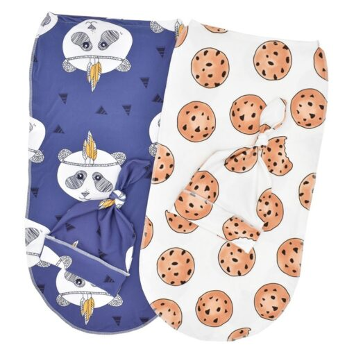 Newborn Blankets Bath Baby Swaddle Kids Cartoon Print Cotton Fabric Super Soft Stuff Girls Cloth Towel 5