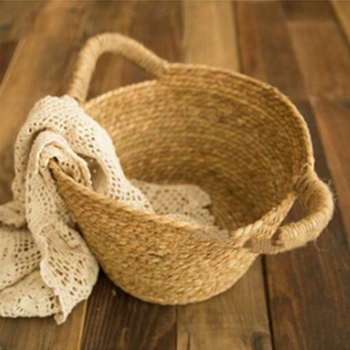 Newborn Nphotography props basket children s studio woven basket baby photo baby photo weaving frame Infant 2