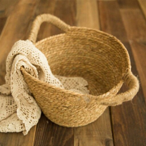 Newborn Nphotography props basket children s studio woven basket baby photo baby photo weaving frame Infant 4