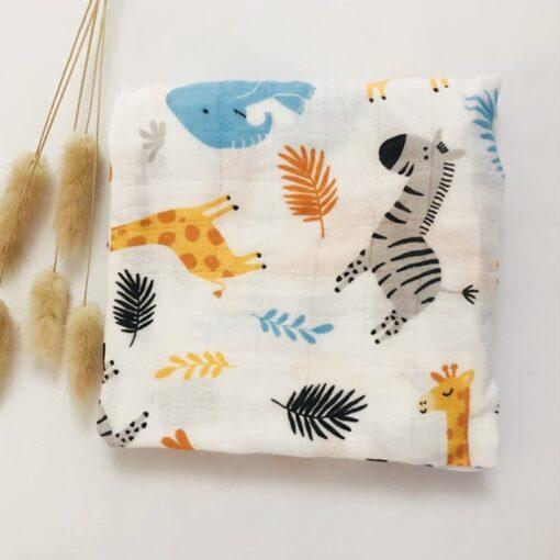 Newborn Organic Cotton Bamboo Baby Blanket Muslin Swaddle Wrap Feeding Burpy Towel Scraf Bibs Muslin Big 3