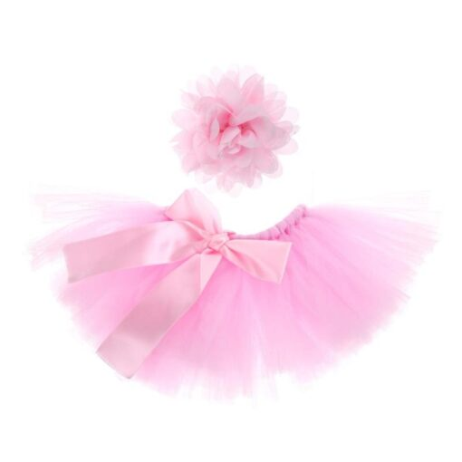 Newborn Photography Props Baby Tutu Skirt Pink Photo Props Headband Hat Set Fotografia Prop Suit for 2