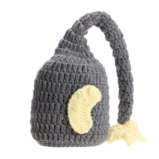 Newborn Photography Props Handmade Baby Girls Boys Crochet Knitted Soft Hat Beanie Cap Infant Photography Accessories 1