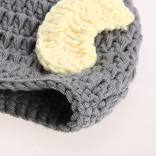 Newborn Photography Props Handmade Baby Girls Boys Crochet Knitted Soft Hat Beanie Cap Infant Photography Accessories 4
