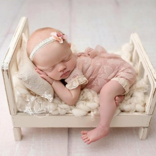 Newborn Photography Props Posing Wood Bed Baby Photography Props Photo Studio Crib Props For Photo Shoot