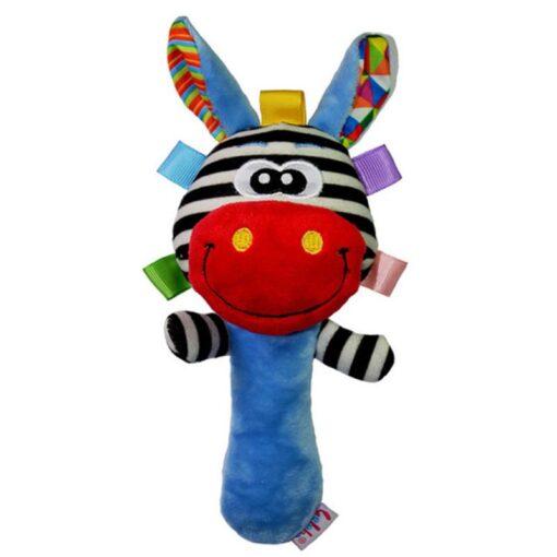 Newborn Plush Animal Hand Rattles Toys Baby Boy Girl Maternal Child Cute Soft Handbells Stick Education 2