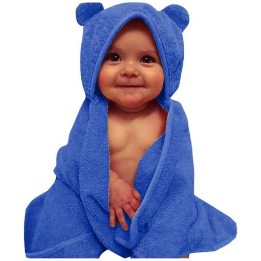 Newborn Swaddle Infant Baby Bathrobes Boys Girls Solid Hooded Flannel Bathrobes Towel Swaddle Winter clothes for 5