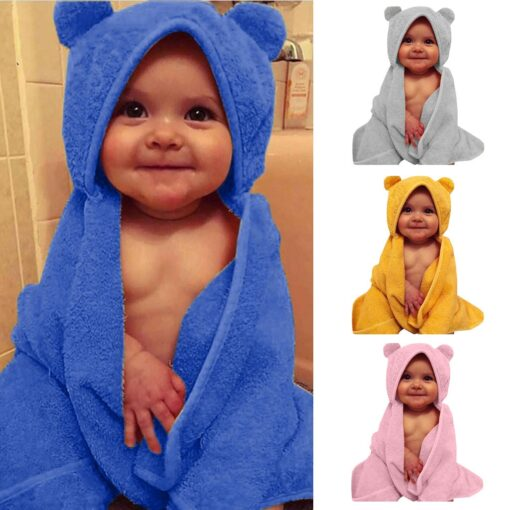 Newborn Swaddle Infant Baby Bathrobes Boys Girls Solid Hooded Flannel Bathrobes Towel Swaddle Winter clothes for