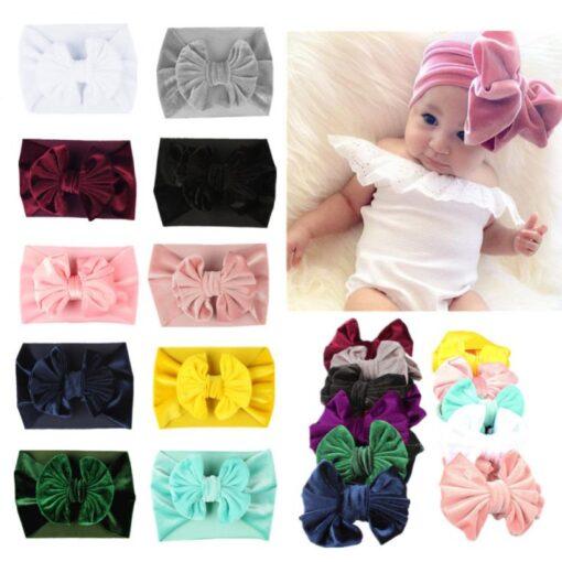 Newborn Toddler Baby Headband Girls Head Wrap Elastic Headwear Bow Knot Kid Headband Hair Accessories Baby
