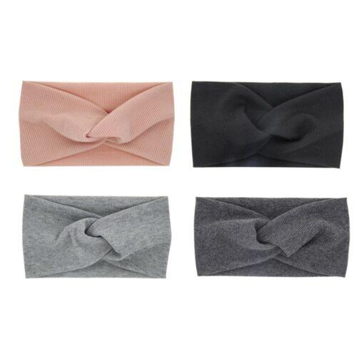 Newborn Toddler Kid Baby Girls Solid Knot Turban Headband Headwear Accessories Unisex Cotton Blends Solid Baby 2