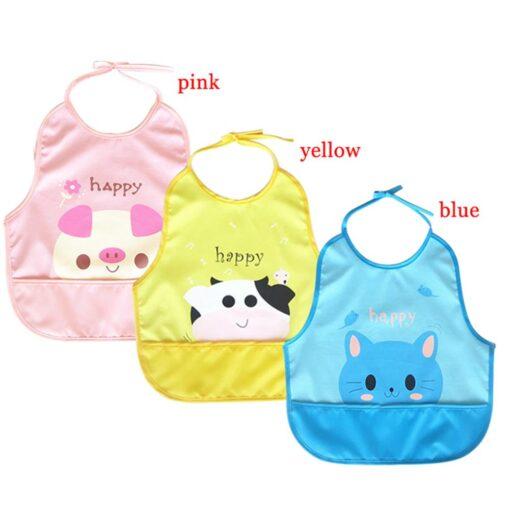 Newest Children Cartoon Waterproof Bib Soli Release Baby Pinny Girls Boys Saliva Towel Print Apron For 2
