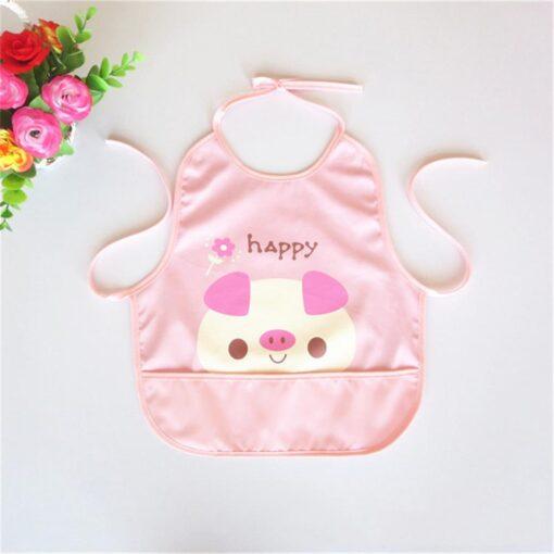Newest Children Cartoon Waterproof Bib Soli Release Baby Pinny Girls Boys Saliva Towel Print Apron For 4