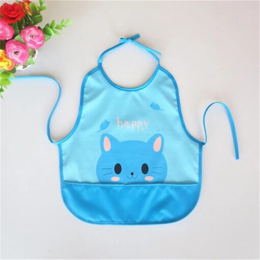Newest Children Cartoon Waterproof Bib Soli Release Baby Pinny Girls Boys Saliva Towel Print Apron For 5