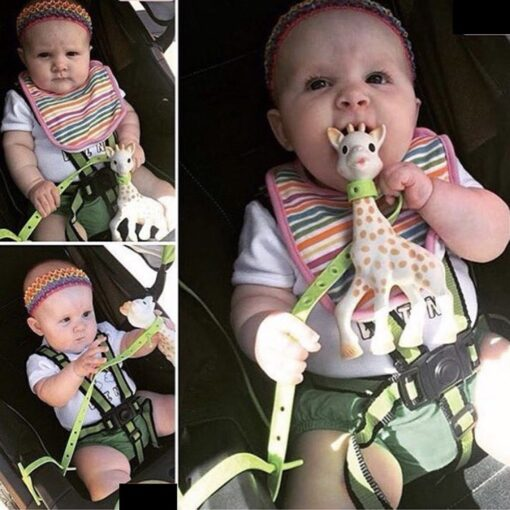 Non toxic Baby Star Pacifier Chain Strap Silicone Stroller Hook Baby Stroller Toy Holder for Infant 5