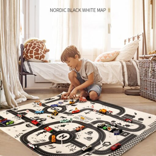 North European Style Kids Car City Scene Taffic Highway Map Play Mat Educational Toys For Children
