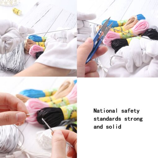 Nylon Rope 20M Lot Satin Cords 1mm DIY String Accessary Findings Baby Silicone Teething Plastic Clip 4