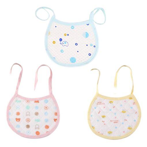 OUTAD 1PCS Newborn Baby Bibs Feeding Bib Baberos Comfortable Cotton Bibs For Kids Girls Boys Care 3
