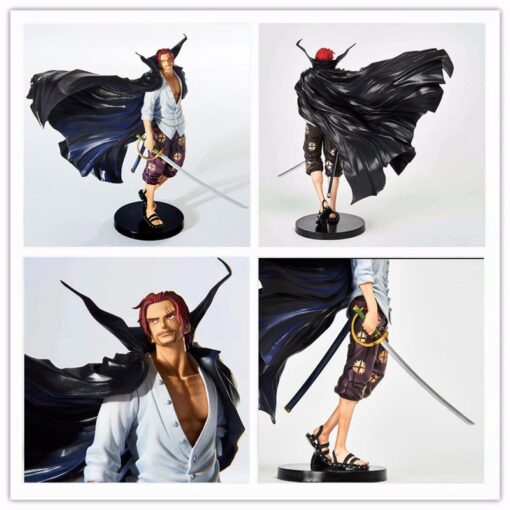 One Piece 19cm Anime Figure Shanks Grand Line The Battle Over The Dome Red Hair PVC 4