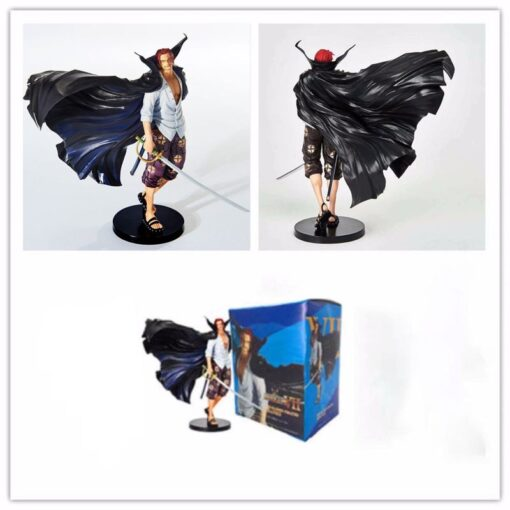One Piece 19cm Anime Figure Shanks Grand Line The Battle Over The Dome Red Hair PVC 5