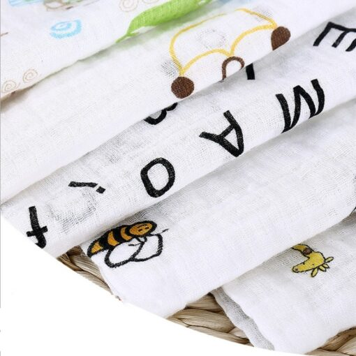 Organic Cotton Swaddle Blanket Flamingo Print Muslin Baby Blankets Infant Swaddle Towel For Newborns Baby Wrap 4