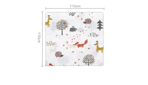 Organic Cotton Swaddle Blanket Flamingo Print Muslin Baby Blankets Infant Swaddle Towel For Newborns Baby Wrap 5