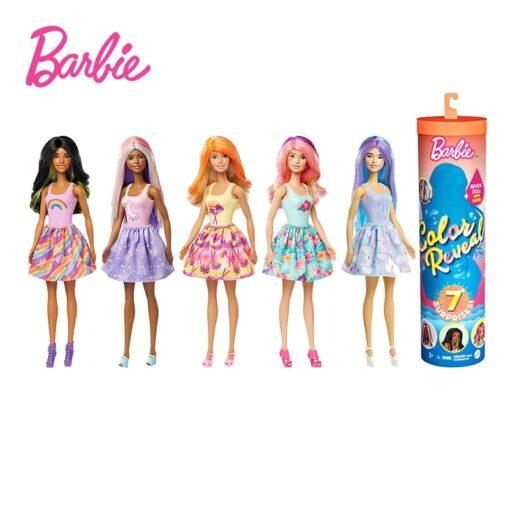 Original Barbie Change Color Reveal Doll Temperature Sensing Discoloration Magic Dress Up Surprise Blind Box Barbie 1