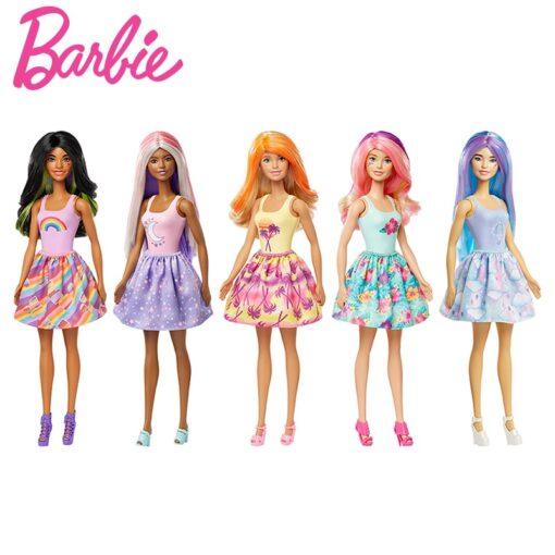 Original Barbie Change Color Reveal Doll Temperature Sensing Discoloration Magic Dress Up Surprise Blind Box Barbie 2