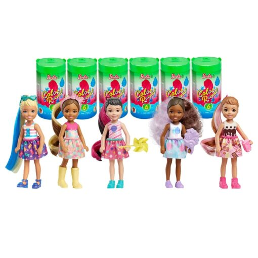 Original Barbie Color Reveal Doll Surprise Discoloration Blind Box Chelsea Barbie Doll With Accessories Toys Kid 1
